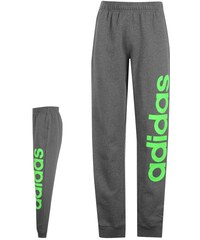 adidas Lined Logo Fleece Sweatpants pánské DkGrey/Lime