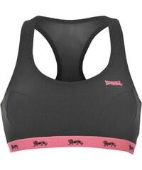 Lonsdale Crop Top dámské Black/Fluo Pink