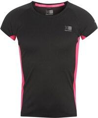 Triko Karrimor Short Sleeved Running Top Girls Black/Pink