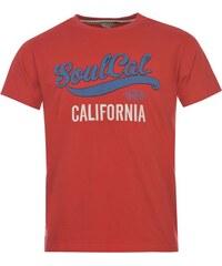 Triko pánské SoulCal Logo Ribbon Red