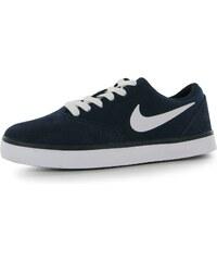 Nike SB Check Boys Skate Shoes Navy/White