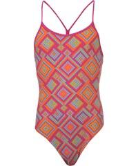Zoggs Mosaic Sprinter Back Swimsuit Girls Pink