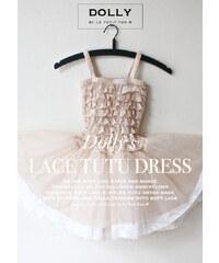 Le Petit Tom Krajkové TUTU šaty krémové