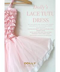 Le Petit Tom Krajkové TUTU šaty růžičkově růžové