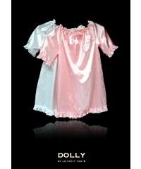 Le Petit Tom Saténová noční košile set bílá + růžová 2 KS v balení!