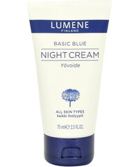 Lumene Basic Blue Night Cream 75ml Noční krém na všechny typy pleti W Pro všechny typy pleti