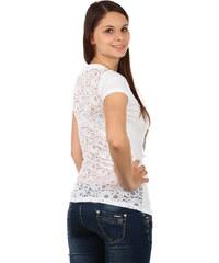 TopMode Moderní tričko s krajkovými zády bílá