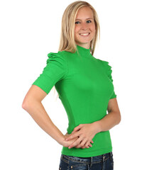 TopMode Elegantní tričko s rolákem zelená