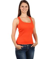 TopMode Klasické dámské tílko oranžová