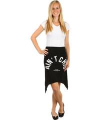 TopMode Netradiční sukně s cípy černá