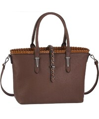 FELIX HANDBAGS Felix Shopper mit Flechtung und Color Blocking