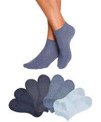 GO IN Füßlinge (8 Paar) in verschiedenen Unifarben blau 35-38,39-42,43-46