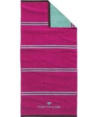 Tom Tailor Badetuch Sport-Tuch mit Jaquard-Logo rosa 1xBadetuch 70x150 cm
