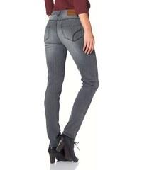 Damen Röhrenjeans Pia seitliche Ziersteppung Skinny-Style mit etwas niedriger Leibhöhe Cheer grau 34,36,38,40,42,44,46