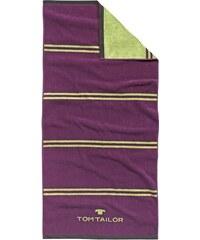 Badetuch Sport-Tuch mit Jaquard-Logo Tom Tailor lila 1xBadetuch 70x150 cm