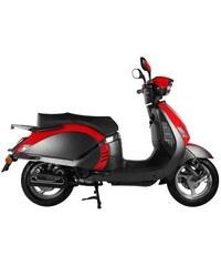 Motorroller 50 ccm 3,03 PS 45 km/h für 2 Personen Scholli MOTOWORX rot