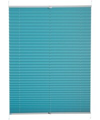 Plissee-Faltenstore im Festmaß Klemmfix Pisa ohne Bohren Verdunkelung K-HOME blau 1 (H/B: 130/40 cm),10 (H/B: 210/70 cm),11 (H/B: 210/80 cm),2 (H/B: 130/50 cm),3 (H/B: 130/60 cm),4 (H/B: 130/70 cm),5