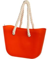 TopMode Módní kabelka s provazy světle šedá