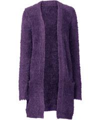 BODYFLIRT Strickjacke langarm in lila für Damen von bonprix