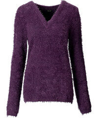 BODYFLIRT Pull violet manches longues femme - bonprix