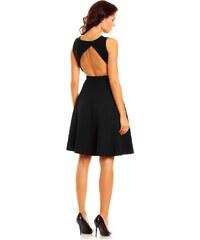 Elegantní šaty s volnými zády Nommo NA46 černé
