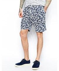 Universal Works - Shorts mit Blumenmuster - Blau