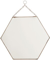 Madam Stoltz Šesticípé zrcadlo Copper