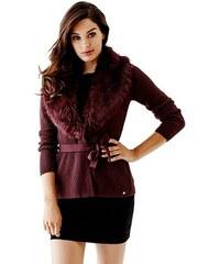 Guess Svetr Fur-Collar Cardigan Sweater