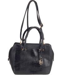 Remonte - Černá kabelka se koženým vzorem a zlatými doplňky Q0403-02 / černá