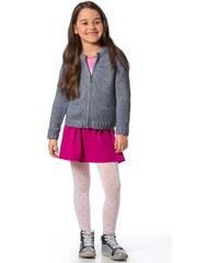 Punčochové kalhoty dívčí Mona Nataly, bílá - růžová