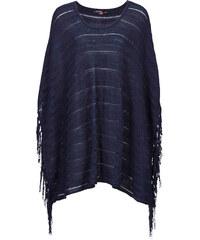 BODYFLIRT Strick-Poncho ohne Ärmel in blau für Damen von bonprix