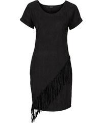 BODYFLIRT Kleid mit Fransen/Sommerkleid in schwarz von bonprix