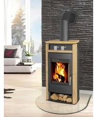 Kaminofen »Paris«, Sandstein, 6 kW, Panoramasichtscheibe, Fireplace