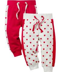 bpc bonprix collection Lot de 2 pantalons sweat bébé en coton bio, T. 56/62-104/110 blanc enfant - bonprix