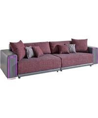 Big-Sofa inklusive RGB-LED-Beleuchtung Baur 500 (=schwarz/grau),506 (=weiß/grau),516 (=grau/violett)
