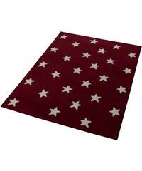 HANSE HOME Teppich Stars gewebt Trendmotiv rot 3 (B/L: 140x200 cm)