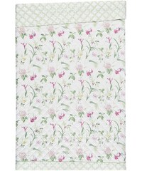 Tagesdecke Orchid mit gemusterter Bordüre LAURA ASHLEY rot 150x200 cm