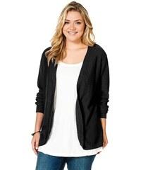 Černý svetr také v nadměrné velikosti, svetry pro plnoštíhlé SHEEGO (48/50 skladem) 48/50 černá Dopravné zdarma!