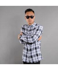 Urban Classics Checked Flanell Shirt 2 bílá / černá