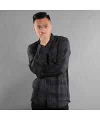Urban Classics Checked Flanell Shirt 2 tmavě šedá / černá