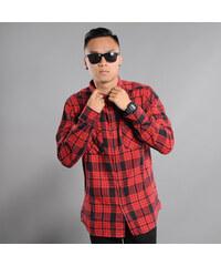 Urban Classics Checked Flanell Shirt 2 červená / černá