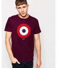 Ben Sherman - T-shirt à imprimé cible - Rouge
