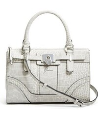 Guess Kabelka Greyson Crocodile-Embossed Small Satchel