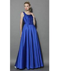 Chicwish společenské šaty Glamorous, safírově modré