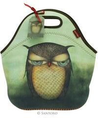 Santoro London - Neoprenová taška na jídlo - Grumpy Owl