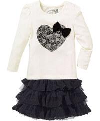 bpc bonprix collection Shirt + Rock mit Spitze (2-tlg.), Gr. 80/86-128/134 langarm in weiß für Mädchen von bonprix