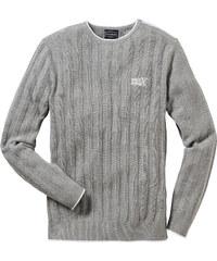 RAINBOW Pullover Slim Fit langarm in grau für Herren von bonprix