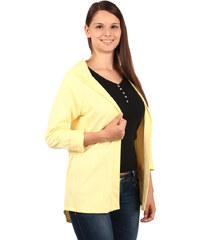 TopMode Kardigan s kapucí žlutá