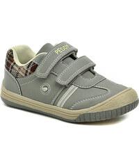 Dětská obuv Peddy PU-525-32-09 šedé chlapecké polobotky