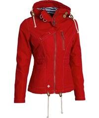 Červené Dámske bundy a kabáty s kapucňou  a318db75562